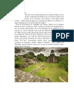 Ciudad de Tikal
