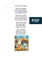 Canción Pica Pollito