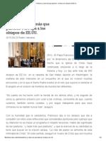 _Pastores y Nada Más Que Pastores_, El Papa a Los Obispos de EE