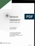 Paul Scheele & Vera Birkenbihl - Memory Optimizer - Manual