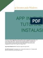 Instalasi App Inventor Pada Windows
