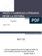 Voces y Cadencias Literarias Desde La Historia