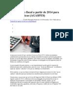 Tratamiento Fiscal a Partir de 2014 Para Personas Físicas