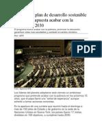 Ambicioso Plan de Desarrollo Sostenible de La ONU Apuesta Acabar Con La Pobreza en 2030