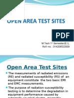 Open Area Test Sites