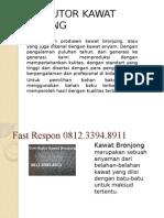 Agen Kawat Bronjong, Kawat Bronjong Batu, Kawat Bronjong Bevanada, Fast Respon 0812.3394.8911