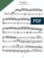 2 Cadenzas for Mozart's Piano Concerto in G, K 453