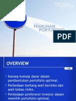 Portofolio Investasi Bab 5 - Pemilhan Portofolio