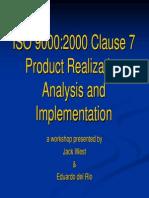 Análisis y Presentación Cláusula 7 de la ISO 9001