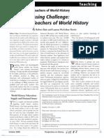 Preparing Teachers of World History