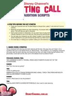 AuditionScripts Disney