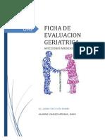 Ficha de Evaluacion Geriatrica