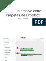 Mover archivos entre carpetas de Dropbox (iPad y Android)
