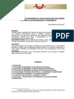 A Aplicação Do Princípio Da Igualdade Nas Relações de Direito Internacional Econômico