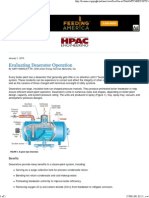 HPAC_ Evaluating Deaerator Operation