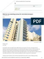 What Are New Marketing Avenues for Real Estate Developers