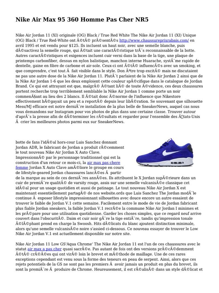 best service aeca7 ac3b7 Nike Air Max 95 360 Homme Pas Cher NR5