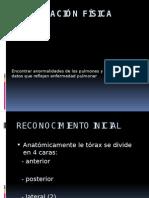 Exploración fisica neumologia