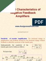 General Characteristics of Negative Feedback Amplifiers