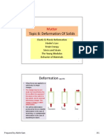 Topic 8 - Deformation of Solids