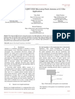Design and Study of QWT FED Microstrip Patch Antenna at 6.5 Ghz Application