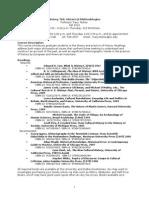 Reading List for Historical Methods
