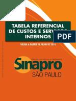 Tabela Sinapro-sp Edição Julho 2014