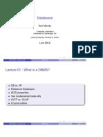 DBMS Caracterization