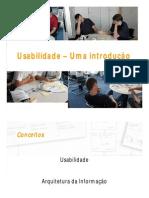 Usabilidade - introdução