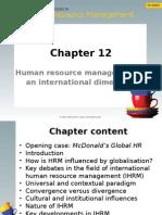 CIHRM (Chapter 12) (Student Slides)