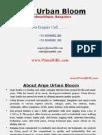 Arge Urban Bloom, Yeshwanthpur, Bangalore