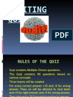 Audit Quiz