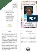 Esther Mae Benton Davis Funeral Program