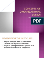 Concepts of Organizational Design