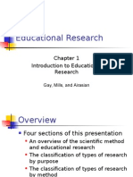 Educational Research Chapter 1 Introduction to Educational Research  Gay, Mills, and Airasian