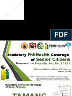 Mandatory PhilHealth Coverage of Senior Citizens pursuant to RA 10645 02.22.2015.pptx