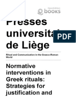 Ritual and Communication in the Graeco-Roman World - Normative Interventions in Greek Rituals