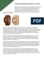 Orologi In Legno E Metallo E Prodotti Naturali Per La Pelle