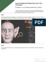 Building a Complete Human Facial Rig in 3D Studio Max Part 3