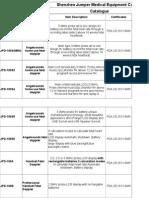 Products Catalogue JUMPER 2015