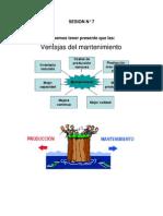 VENTAJAS DEL MANTENIMIENTO - SESION 7