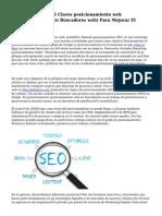 Marketing Digital 5 Claves posicionamiento web (Posicionamiento En Buscadores web) Para Mejorar El Tráfico