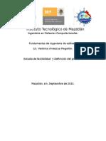 Estudio de Factibilidad de proyecto de software