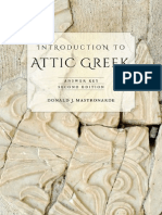 Mastronarde-Attic Greek Answer Key