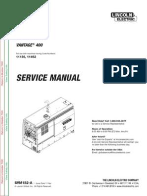 Lincoln Vantage 400 Wiring Diagram - Catalogue of Schemas on