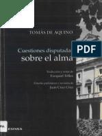 Cuestiones Disputadas sobre el Alma - Santo Tomas de Aquino (Quaestiones Disputatae de Anima), [Navarra, EUNSA, 1999 Scan]