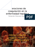 Coagulopatía en Enfermedad Hepática
