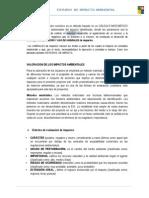 El Método de Valoración Numérico Es Un Método Basado en Un CALCULO MATEMÁTICO de Diversos Criterios Ambientales Del Impacto Identificado