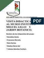 Visita Aljardin Botanico Instituto Miguel Lillo Tucumán