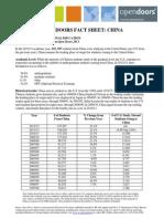 China Open Doors Fact Sheet 2013